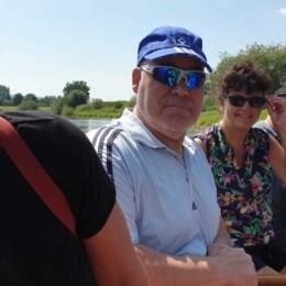 Auf dem Schlauchboot