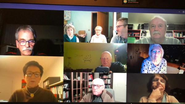 Bild von der Onlineversammlung
