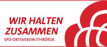 """SPD-Rose mit dem Text """"Wir halten zusammen"""""""
