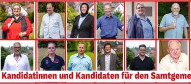 Kandidierende für den Samtgemeinderat