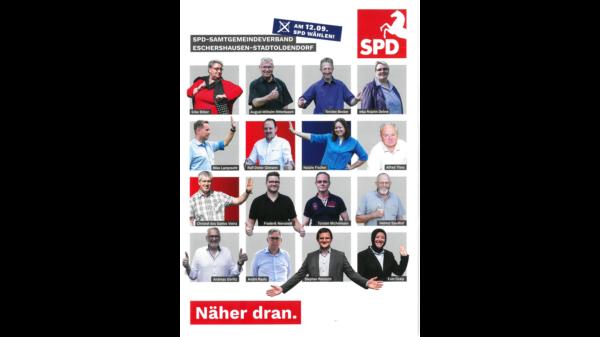 Kandidatenbilder auf dem Flyer
