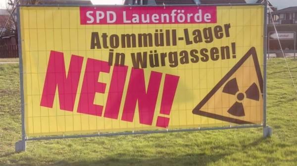 Das Bauzaunbanner der SPD Lauenförde